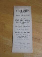 1919 ORFORD STREET IPSWICH SUFFOLK AUCTION SALES PARTICULARS