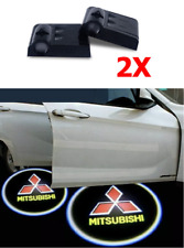 2x Mitsubishi Car Door Welcome LED Light Courtesy Projector Ghost Shadow Sticker