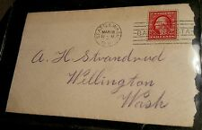 Wellington, Washington, GNRy- RPO Postmark, March 29th, 1911- RARE!