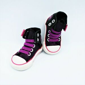 Converse Easy-On Chuck Taylor All Star Black & Purple Baby Girl Size Sz 2
