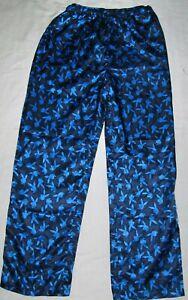 Playboy Bunny Blue Silky Satin Lounge Sleep Pajama Pants Mens Size Medium