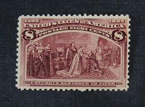 CKStamps: US Stamps Collection Scott#236 8c Columbian Mint LH OG
