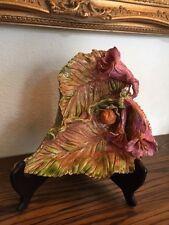 Majolica style decorative Hand Made Ceramic Dish, artist Donna Aldred, Dallas