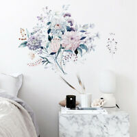 DIY Wall Sticker Decal Craft Decorative Flowers Floral Wall Art Mural Room