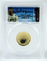 LOW POPULATION 2019 Gold $5 Coin Launch Ceremony Signed by Apollo 13 Fred Haise