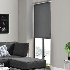 Seitenzug-Rollo 80x175cm Grau OHNE BOHREN Verdunklungs Fenster Klemm Easy Fix
