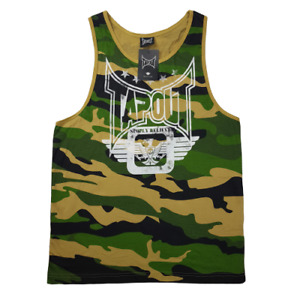 Mens Tapout Camouflage Tank Top Sport Gym Muscle Singlet Vest Workout Camo