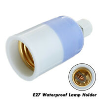 E27 Socket Plastic Light Lamp Holder Base Waterproof Fireproof Material UK