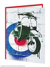 Brainbox Candy Mod scooter greetings birthday card graffiti retro vintage 60s