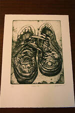 Sneakers #1 an etching by Jacques Moiroud