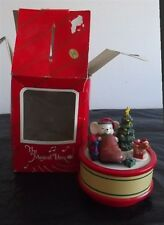 The Musical Box Playing Santa Claus Is Coming To Town Mice-Tree-Dog