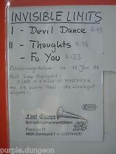 """INVISIBLE LIMITS - DEVIL DANCE  12"""" PROMO WHITE LABEL  Last Chance LCR 005 MINT"""