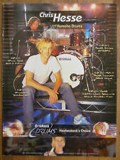 Hoobastank, Chris Hesse, Yamaha Drums, Full Page Promotional Ad