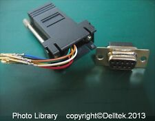 DB9 to RJ45 Adapter Female Black 2 Years Warranty