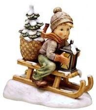 HUMMEL #156458 RIDE INTO CHRISTMAS BRAND NIB BOY SLEIGH EXTRA LARGE $575 OFF F/S