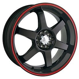 9mm wheel rim tape striping stripes stickers Red ..(38 pieces/9 per wheel)