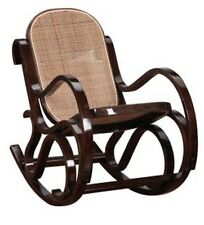 ROCKING CHAIR FAUTEUIL ENFANT TEINTE NOYER CANNAGE