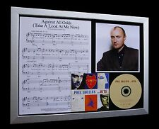PHIL COLLINS Against All Odds TOP QUALITY CD FRAMED DISPLAY-EXPRESS GLOBAL SHIP!