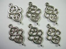 Silver plated swirled drops, loops, connectors, links, 6  - 28mm