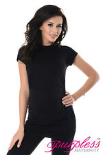 Purpless Maternity 100 Cotton Pregnancy Tee Top Tshirt 5025 Black UK 18