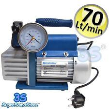 3S POMPE A VIDE professionnel FRIGORISTE 70 Lt/min avec électrovanne vacuomètre