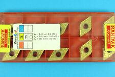 10 SANDVIK DNMG 150608-MF - Grade 1025 CNC Lathe Coated Carbide Turning Inserts