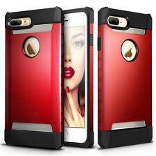 Apple iPhone 7 / 8 Plus Protective Red X-Bone Steel Case & Glass ScreenProtector