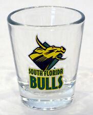 Vintage UNIVERSITY OF SOUTH FLORIDA BULLS Souvenir Bar SHOT GLASS / TAMPA
