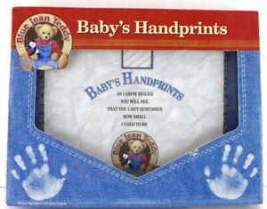 Blue Jean Teddy Baby's Handprints Kit Framable Art of Your Child's Prints