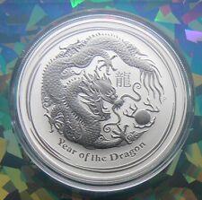 2012 $1 Australia Lunar Year Of The Dragon 1 Oz .999 Silver Coin ~ SHIPS FREE