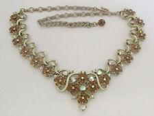 Vintage Topaz Rhinestone Necklace