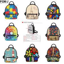 Lady Backpack PU Leather Back Pack Travel Mini Girls Shoulder Bag Purse Handbag