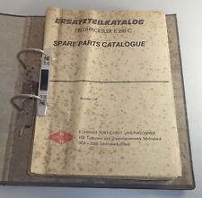 Parts Catalog VEB Kombinat Fortschritt Forage Harvester E 281 C Stand 01/1987