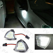 Pair LED Side Mirror Under Puddle Lights Canbus For VW EOS GOLF 5 Jetta Passat