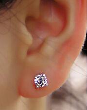 2 Carat Solitaire Diamond Stud Earrings Round Cut F/VS2 14K White Gold Enhanced
