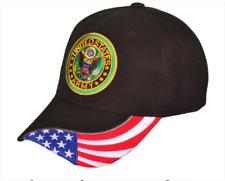 US Army Flag Logo Military Baseball Hats Black Cap Embroidered Baseball Cap NEW