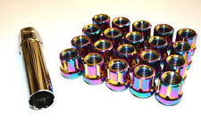 NNR OPEN ENDED LUG NUTS W/ KEY NEO CHROME 12x1.5 FOR HONDA/FOR ACURA/MAZDA/FOR T