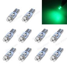 10Pcs T5 Wedge 5SMD Green Dashboard LED Light Bulb Lamp 74 17 18 37 70 2721