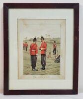 "Vintage Art Soldiers Oxfordshire Light Infantry Framed Art Decor (15"" x 12"")"