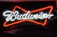 """NEON LIGHT BUDWEISER BUD LIGHT BUSCH BEER BAR VINTAGE SIGN 13""""X5"""""""