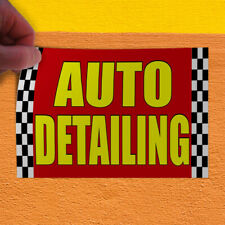 Decal Sticker Auto Detailing Red Car Automotive Auto Detailing Store Sign