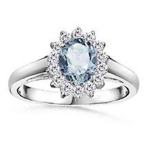 Aquamarine Anniversary Not Enhanced Fine Rings