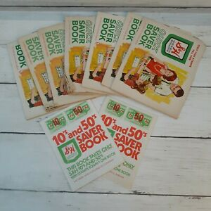 Vintage S & H Green Stamps Quick Saver Books Lot of 9 Unused
