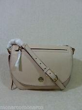 NWT Tory Burch Light Oak/Blush/Soft Pink Leather Brody Saddle Bag $450