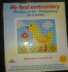 Stickpackung Ente Gobelinstich Sticken für Kinder 9715
