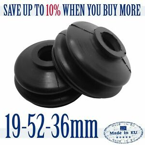 2 X UNIVERSAL High Quality Rubber 19 52 36 Track Rod End and Ball Joint Boots