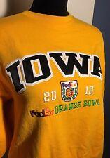 CHAMPION Iowa HAWKEYES 2010 FedEx Orange Bowl Sweatshirt Size Medium (M)