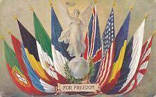 For Freedom Tuck Patriotic Postcard