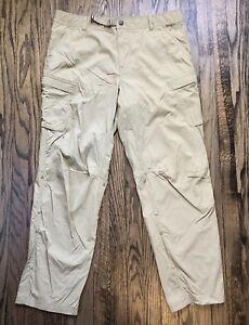 REI Men's Kahki Convertible Pull Up Shorts Pants Size 40 x 32