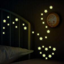 Glow In The Dark Stars Wall Sticker Kids Bedroom Winter Xmas UK